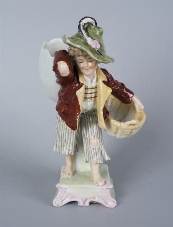 nieznany, Figurka: Chłopiec z koszem