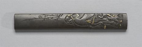 nieznany, Kodzuka (rękojeść nożyka) z przedstawieniem starca i żurawia