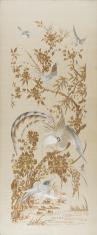 Haft z rajskim ptakiem na drzewie