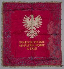 Sztandar Polskiego Gimnazjum Społecznego w Łodzi