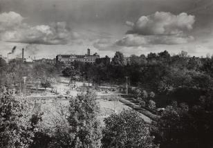Łódź. Panorama na park Sienkiewicza