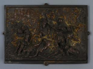 Plakietka dekoracyjna ze sceną bitwy