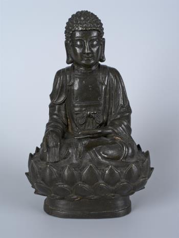 nieznany, Budda Amitabha tronujący na lotosie