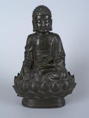 Budda Amitabha tronujący na lotosie