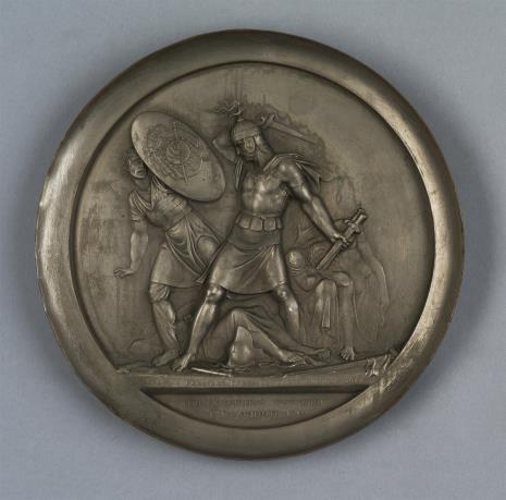 Tołstoj Fiedor, Dekoracyjny talerz cynowy