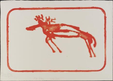 Joseph Beuys, Łoś, czerwony łoś [Elch, Roter Elch]