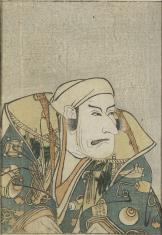 Popiersie aktora o ustach wykrzywionych grymasem