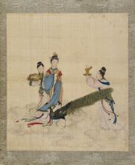 Trzy kobiety i paw