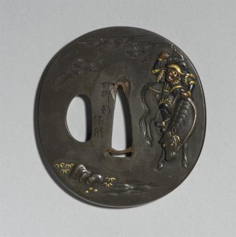 Nukagawa Yasunori, Tsuba z przedstawieniem chińskiego rycerza na koniu