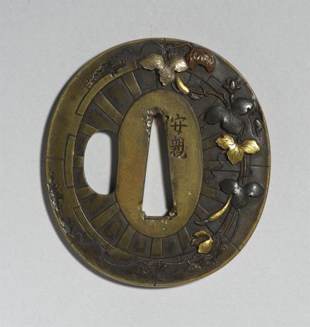 Tsuchiya Yasuchika, Tsuba z motywem koła dworskiej karety