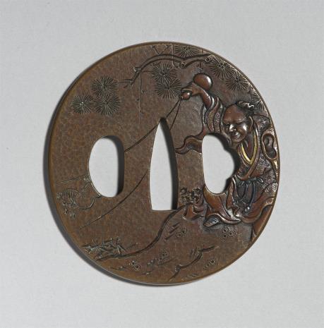 Sugiura Joi, Tsuba z wyobrażeniem Chokaro wyczarowującego muła z flaszki