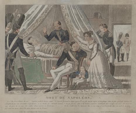 nieznany, Śmierć Napoleona