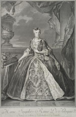 Jean  Daulle, Portret Marii Józefiny, królowej Polski, żony Augusta III