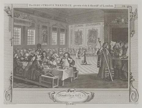 Ernst Ludwig Riepenhausen, Pilny uczeń zostaje szeryfem Londynu
