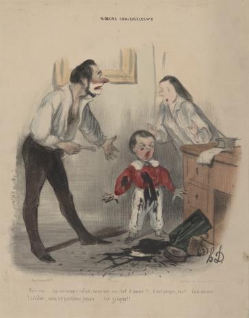Honoré Daumier, Kłótnia małżeńska
