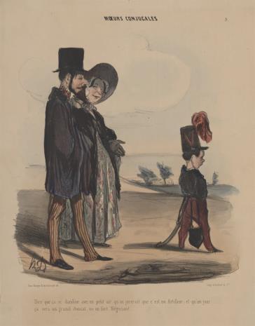 Honoré Daumier, Przechadzka małżeńska