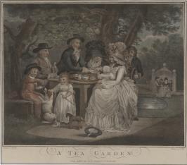 Popołudniowa herbata w ogrodzie