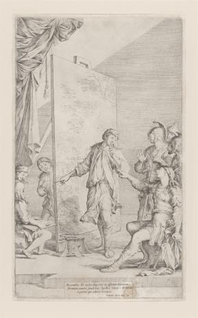 Salvatore Rosa, Aleksander W. w pracowni Apellesa