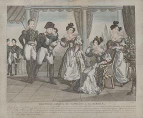 Pożegnanie Napoleona I z rodziną