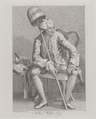 Karykatura Jonha Wilkesa, lorda-majora Londynu