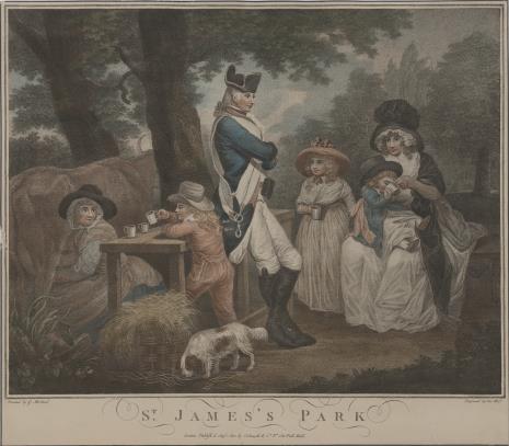 David Weiss, W parku St. James w Londynie