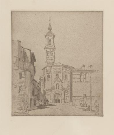 Willi Egler, Widok kościoła w mieście Zaragoya