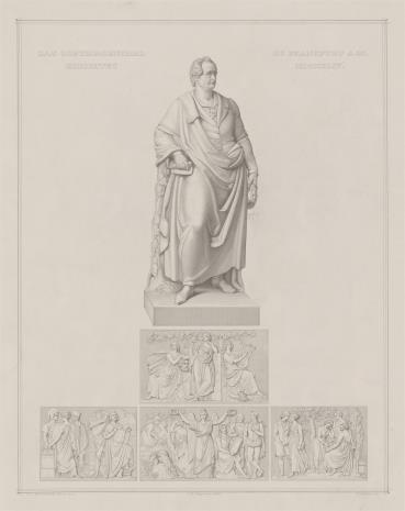 Samuel Amsler, Pomnik Goethego we Frankfurcie nad Menem