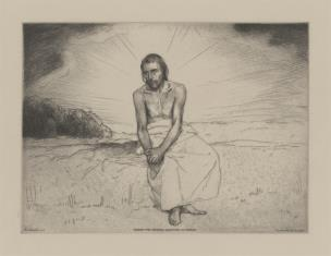 Chrystus na tle krajobrazu