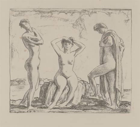 Emil Rudolf Weiss, Trzy nagie kobiety nad brzegiem morza