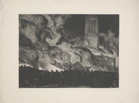 Otto Graf, Pożar katedry