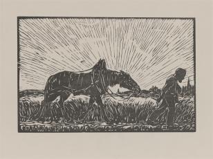 Wieśniak prowadzący konia
