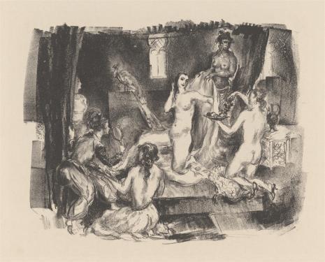 Heinrich Dörffel, Toaleta odalisek