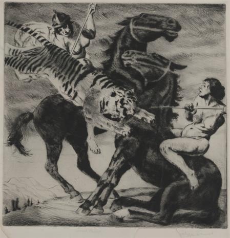 Philipp Franck, Amazonki walczące z tygrysem