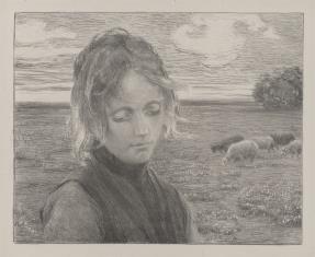 Dziewczyna na tle łąki