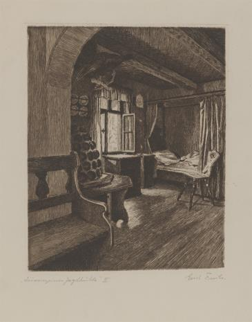Erich Fuchs, Wnętrze leśniczówki