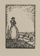 Dziewczyna stojąca na tle krajobrazu
