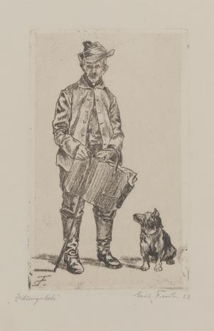 Erich Fuchs, Roznosiciel gazet