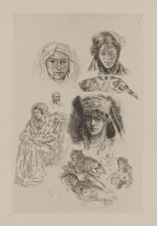 Alexandre Lunois, Szkice o tematyce arabskiej