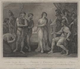 Karaktatus przed wodzem rzymskim Ostoriusem pl. N.119 z wydanictwa: