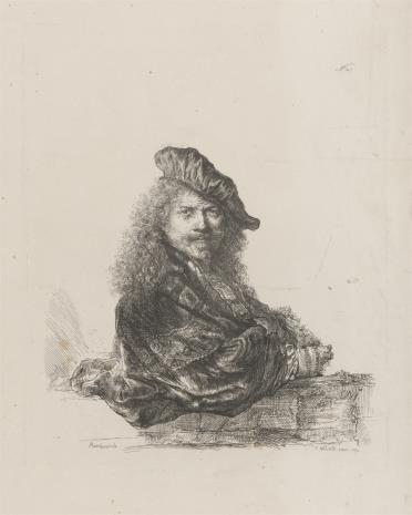 Francesco  Novelli, Autoportret Rembrandta, w berecie