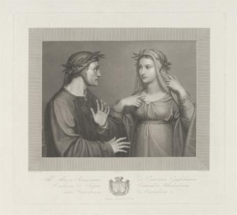 Domenico Marchetti, Beatrice ukazuje się Dantemu