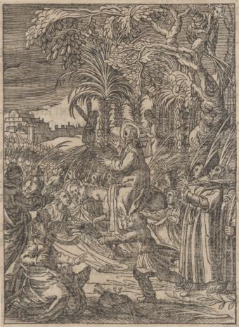 Christoph Młodszy Sichem, Wjazd Chrystusa do Jerozolimy