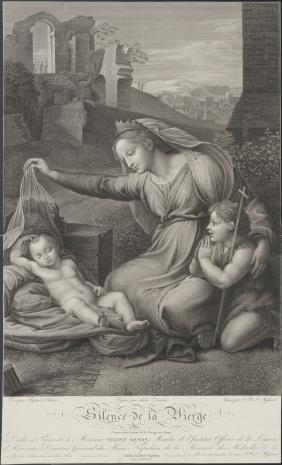 Jean Baptiste Louis Mł. Massard, Matka Boska ze śpiącym Dzieciątkiem i świętym Janem na tle ruin