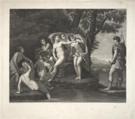Diana z nimfami w kąpieli i Akteon
