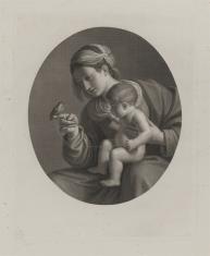 Matka Boska z Dzieciątkiem z ptaszkiem