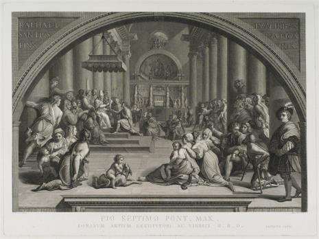 Aloysio Fabri, Cesarz Konstantyn ofiarowuje Rzym papieżowi
