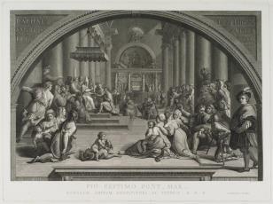 Cesarz Konstantyn ofiarowuje Rzym papieżowi