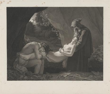 Jean Baptiste Louis Mł. Massard, Złożenie Atali do grobu