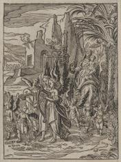 1. Powrót św. Rodziny z Egiptu 2. Madonna z Dzieciątkiem witająca św. Jana