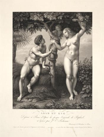 Joseph Théodore  Richomme, Adam i Ewa pod drzewem rajskim
